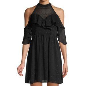 NWT BCBGeneration Cold Shoulder Dotted Dress